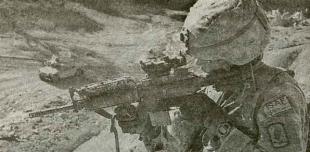 Парашютист 173-й воздушно-десантной бригады в Афганистане. 2007 г.