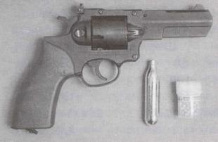 Револьвер А-201 с баллоном и комплектом высокоточных шариковых пуль «Аникс».