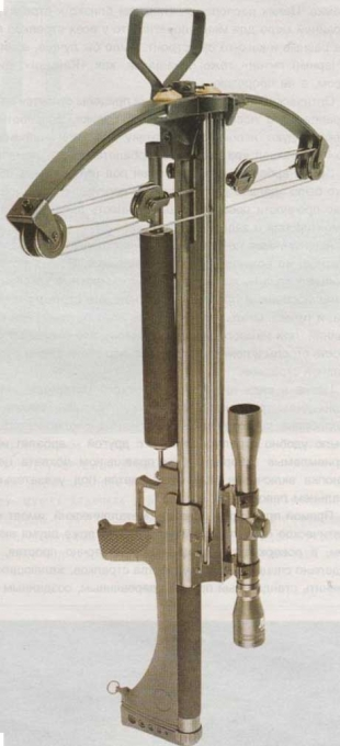 Общий вид арбалета «Черный питон» - заметьте сходство с винтовкой M16.