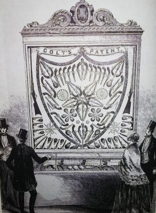 Экспозиция моделей кольта на Ньюйоркской промышленной выставке 1853 года
