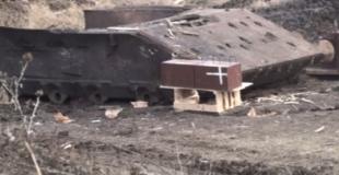 Демонстрация эффективности ДЗ «Дуплет» при обстреле борта танка подкалиберным снарядом БМ42