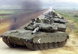 Танк «Меркава-4» c ДЗ NxRA на бортовых экранах