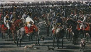 Гравюра с изображением австрийской кавалерии эпохи наполеоновских войн