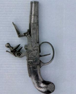 Карманный металлический пистолет