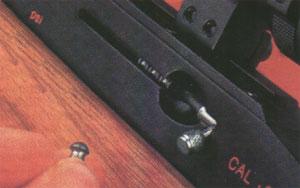 Трубчатый магазин вместимостью 9 пуль винтовки Logun MK II расположен на левой стороне ствольной коробки