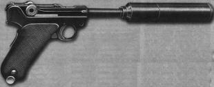 Различные модели Parabellum с глушителями в тридцатых — начале сороковых годов состояли на вооружении германских спецслужб.