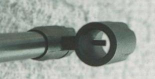 «Пеньковая» мушка МР-512 в «туннеле» намушника.