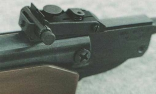 Прицел МР-512. Барабанчику ввода боковых поправок не мешало бы иметь больший диаметр.