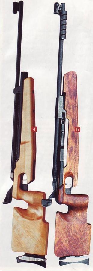 4) Компрессионная винтовка предварительной накачки МР-572: 5) Компрессионная винтовка одноразовой накачки МР-532