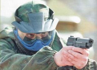 Пистолет RAM-50 в руках спортсмена