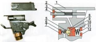 Схема пневматической системы пистолета RAM-50