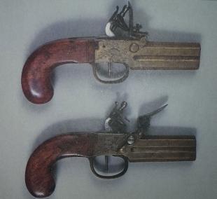 Пара пистолетов с селектором ствола