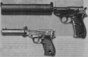 Для использования германскими спецслужбами для Walther Р.38 были разработаны различные тины глушителей.