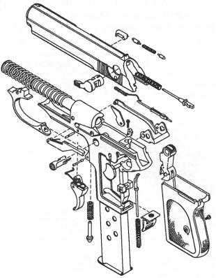 сборочная схема пистолета walther ppk