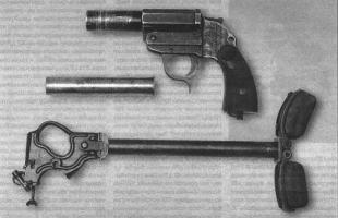 26-мм штурмовой пистолет Sturmpistole вкладного нарезного ствола позволяло использовать его как боевое и сигнальное оружие