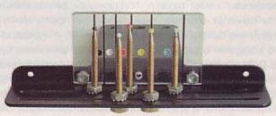 Прицел для охотничей стрельбы из лука, имеет пять мушек для стрельбы на разные расстояния.