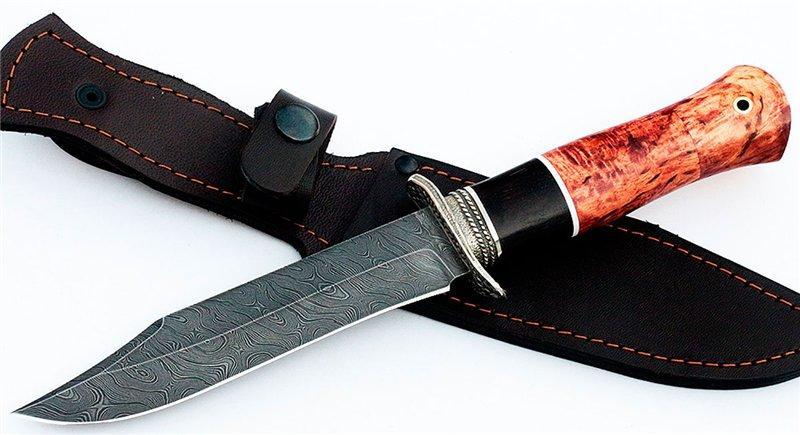 Характеристики охотничьих и дамасских ножей